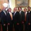 Mayor Carlos Gimenez hobknobs with friends in DC