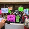 Protesters have demands for Carlos Gimenez on sanctuary
