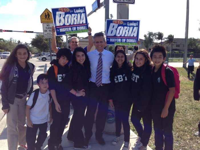 Rich man Luigi Boria buys, er, wins Doral election