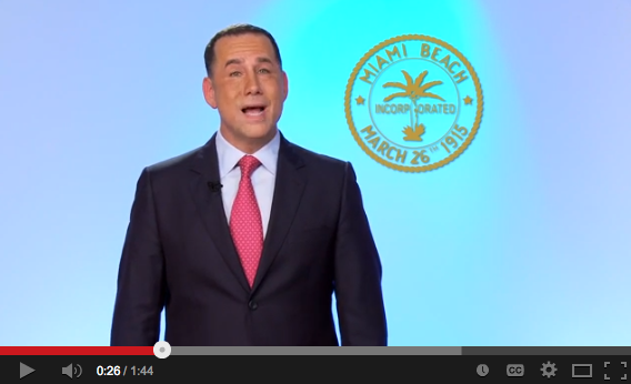 Miami Beach mayor Phillip Levine plays politics on video