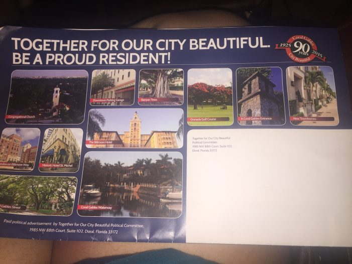 Coral Gables mayor's PAC pays for slick, misleading piece